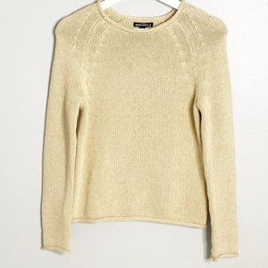J. Crew Roll Neck Pullover Tan Sweater